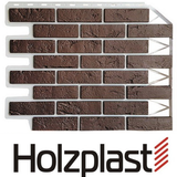 Фасадная панель Holzplast Wandstein Кирпич Темно-коричневый (795х595мм)