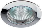 Светильник Эра Литой KL1 CH Хром точечный встраиваемый MR16, GU5.3, 12V/220V, 50W, D=75 (Цинковый сплав)