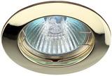 Светильник Эра Литой KL1 GD Золото точечный встраиваемый MR16, GU5.3, 12V/220V, 50W, D=75 (Цинковый сплав)
