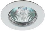 Светильник Эра Литой KL1 WH Белый точечный встраиваемый MR16, GU5.3, 12V/220V, 50W, D=75 (Цинковый сплав)