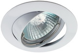 Светильник Эра Литой KL1A WH Белый поворотный точечный встраиваемый MR16, GU5.3, 12V/220V, 50W, D=81мм (Цинковый сплав)