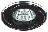 Светильник Эра KL34 AL/BK Черный/хром точечный встраиваемый MR16, GU5.3, 12V/220V, 50W, D=80мм (Алюминий)