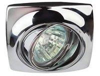 Светильник Эра KL63A CH Хром поворотный точечный встраиваемый MR16, GU5.3, 12V/220V, 50W, 83х83мм (Цинковый сплав)