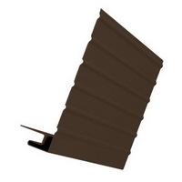 J-фаска Коричневая для сайдинга, софита и блок-хауса (длина-3м)