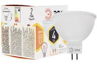 Лампа светодиодная Эра GU5.3 MR16 4Вт 2700K Теплый свет LED MR16-4W-827-GU5.3 Матовая колба