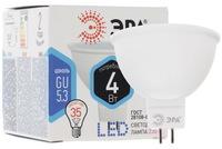 Лампа светодиодная Эра GU5.3 MR16 4Вт 4000K Белый свет LED MR16-4W-840-GU5.3 Матовая колба