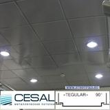 Металлический кассетный потолок с кассетой Cesal K90 Tegular 90° Металлик 595х595мм
