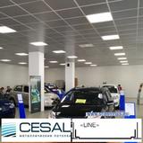 Металлический кассетный потолок с кассетой Cesal Line Металлик 595х595мм