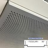Металлический кассетный потолок с кассетой Tegular 90° Металлик Перфорированная d=1,8мм 595х595мм