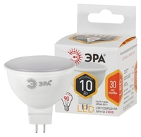 Лампа светодиодная Эра GU5.3 MR16 10Вт 2700K Теплый свет LED MR16-10W-827-GU5.3 Матовая колба