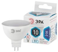 Лампа светодиодная Эра GU5.3 MR16 10Вт 4000K Белый свет LED MR16-10W-840-GU5.3 Матовая колба