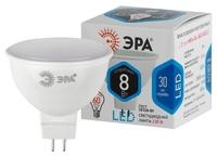 Лампа светодиодная Эра GU5.3 MR16 8Вт 4000K Белый свет LED MR16-8W-840-GU5.3 Матовая колба