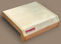 Подоконник ПВХ Danke Standard Мрамор Матовый. Ширина 40см (400мм)