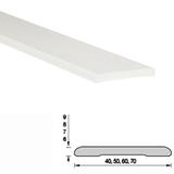 Наличник пластиковый (ПВХ) Белый 40х6х2200мм Н40 Ideal (Идеал)