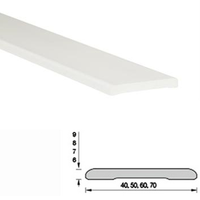 Наличник пластиковый (ПВХ) Белый 60х8х2200мм Н60 Ideal (Идеал)
