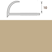 Раскладка пластиковая (ПВХ) для плитки 9-10мм наружная Бежевая 2,5 метра