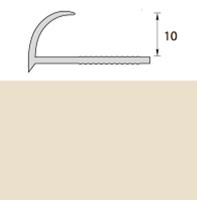 Раскладка пластиковая (ПВХ) для плитки 9-10мм наружная Слоновая кость 2,5 метра