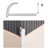 Раскладка пластиковая (ПВХ) для плитки 7-8мм наружная Белая 2,5 метра