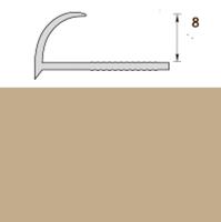 Раскладка пластиковая (ПВХ) для плитки 7-8мм наружная Бежевая 2,5 метра