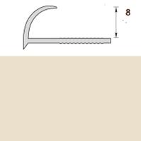 Раскладка пластиковая (ПВХ) для плитки 7-8мм наружная Слоновая кость 2,5 метра