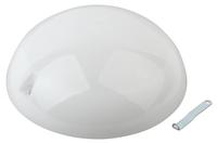 Светильник IP54 под лампу с цоколем Е27 Эра НБП 06-60-012 / 06-60-011 антивандальный (молочный) настенно-потолочный 220х220х105мм