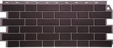 Фасадная панель (цокольный сайдинг) fineber кирпич облицовочный жженый (1130х463мм)