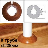 """Обвод пластиковый (ПВХ) Идеал для труб диаметром 28мм (3/4""""). 18 цветов"""