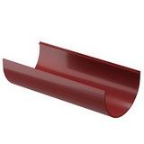 Желоб водосточной системы Docke (Деке) Premium 120/85мм Красный (Гранат) 120мм, длина-3м, пластиковый (ПВХ)