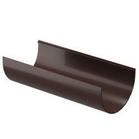 Желоб водосточной системы Docke (Деке) Premium 120/85мм Коричневый (Шоколад) 120мм, длина-3м, пластиковый (ПВХ)