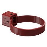 Хомут трубы универсальный водосточной системы Docke (Деке) Premium 120/85мм Красный (Гранат), пластиковый (ПВХ)