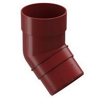 Колено 45° водосточной системы Docke (Деке) Premium 120/85мм Красное (Гранат), пластиковое (ПВХ)