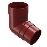 Колено 72° водосточной системы Docke (Деке) Premium 120/85мм Красное (Гранат), пластиковое (ПВХ)
