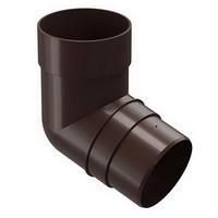 Колено 72° водосточной системы Docke (Деке) Premium 120/85мм Коричневое (Шоколад), пластиковое (ПВХ)