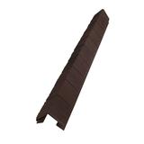 Наружный фактурный угол Доломит Скалистый Риф Премиум Каштан (длина-1м)