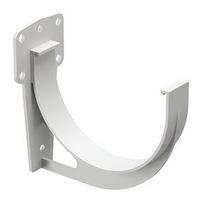 Кронштейн желоба водосточной системы Docke (Деке) Premium 120/85мм Белый (Пломбир), пластиковый (ПВХ)