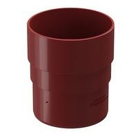 Муфта трубы соединительная водосточной системы Docke (Деке) Premium 120/85мм Красная (Гранат), пластиковая (ПВХ)