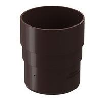 Муфта трубы соединительная водосточной системы Docke (Деке) Premium 120/85мм Коричневая (Шоколад), пластиковая (ПВХ)