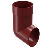 Наконечник водосточной системы Docke (Деке) Premium 120/85мм Красный (Гранат), пластиковый (ПВХ)