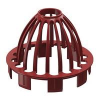 Сетка защитная водосточной системы Docke (Деке) Premium 120/85мм Красная (Гранат), пластиковая (ПВХ)