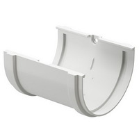 Соединитель желоба водосточной системы Docke (Деке) Premium 120/85мм Белый (Пломбир), пластиковый (ПВХ)