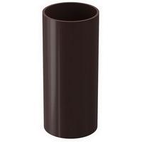 Труба водосточной системы Docke (Деке) Premium 120/85мм Коричневая (Шоколад) 85мм, длина-3м, пластиковая (ПВХ)
