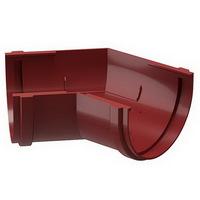 Угол желоба 135° водосточной системы Docke (Деке) Premium 120/85мм Красный (Гранат), пластиковый (ПВХ)