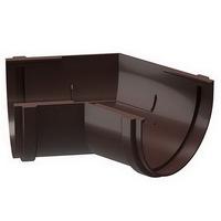Угол желоба 135° водосточной системы Docke (Деке) Premium 120/85мм Коричневый (Шоколад), пластиковый (ПВХ)