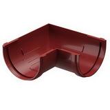 Угол желоба 90° водосточной системы Docke (Деке) Premium 120/85мм Красный (Гранат), пластиковый (ПВХ)