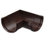Угол желоба 90° водосточной системы Docke (Деке) Premium 120/85мм Коричневый (Шоколад), пластиковый (ПВХ)