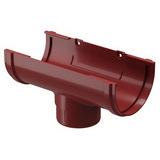 Воронка водосточной системы Docke (Деке) Premium 120/85мм Красная (Гранат), пластиковая (ПВХ)