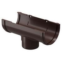 Воронка водосточной системы Docke (Деке) Premium 120/85мм Коричневая (Шоколад), пластиковая (ПВХ)