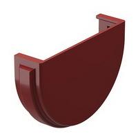 Заглушка желоба водосточной системы Docke (Деке) Premium 120/85мм Красная (Гранат), пластиковая (ПВХ)