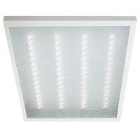 Светильник светодиодный офисный Армстронг 595х595х19мм Призма 40Вт 4000К Белый свет с LED-драйвером. (Универсальный встраиваемый / накладной)