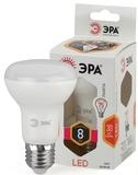 Светодиодная (LED) Лампа Е27 R63 Рефлектор 8Вт 640Лм 2700К Теплый свет Эра LED R63-8W-827-E27 Матовая колба